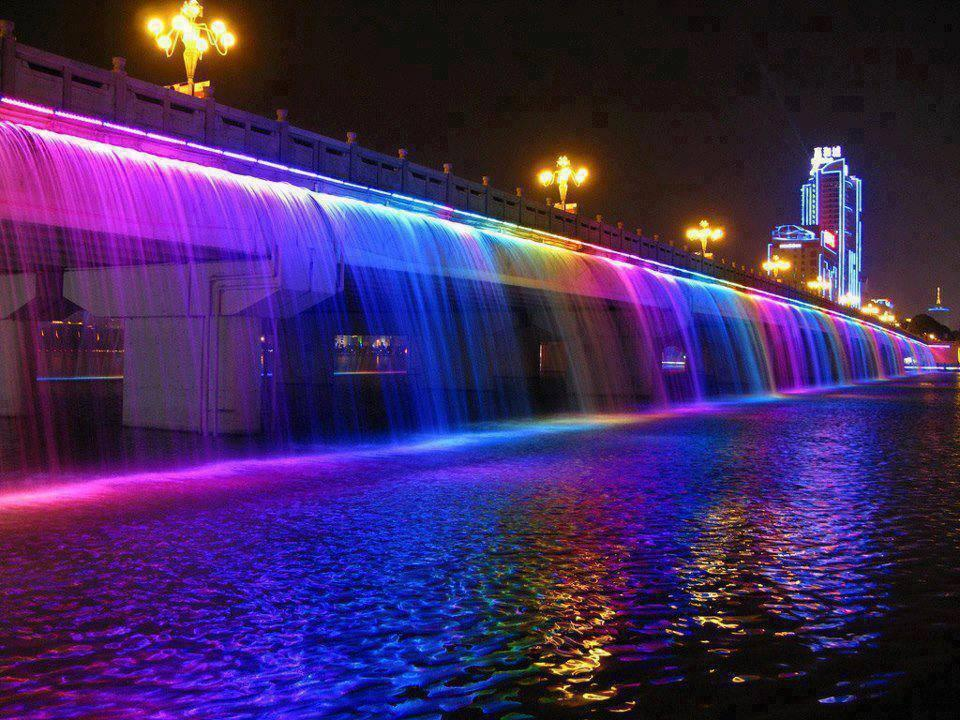 The Banpo Bridge in downtown Seoul, South Korea