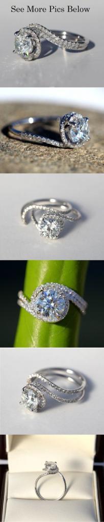 14k White gold - Diamond Engagement Ring
