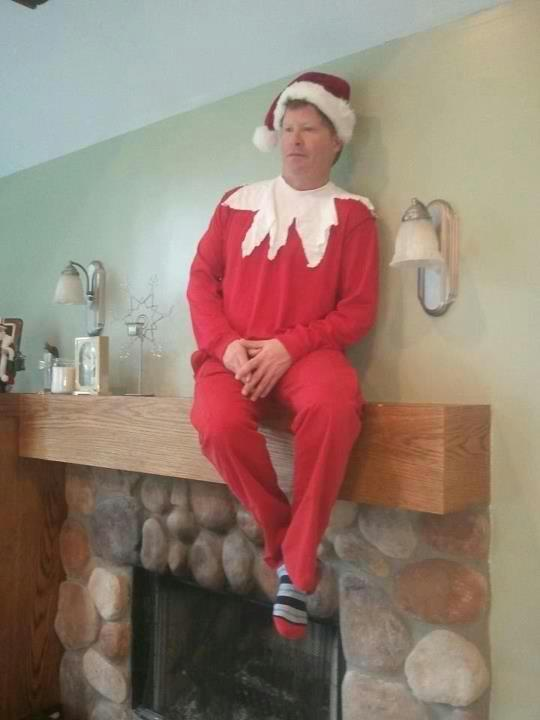 Laughed out LOUD. Elf on the Shelf.
