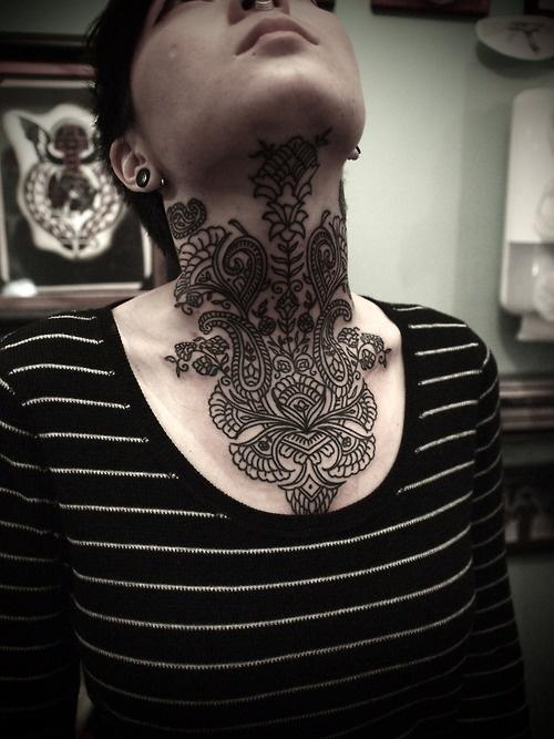 Awesome place to put this mandala tattoo