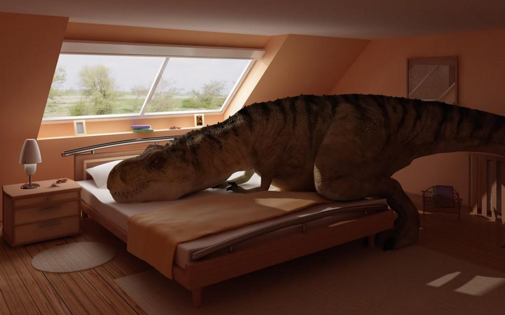 fuuny dinosaur sleeps
